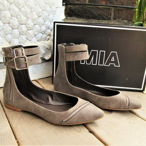 7,5 new MIA moto flats shoes buckle pointed toe